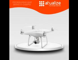 Drone DJI Phantom 4 Pro V2.0 com câmera C4K branco